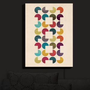 Nightlight Sconce Canvas Light | Kim Hubball - Geo Circles | Pattern