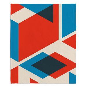 Artistic Sherpa Pile Blankets | Kim Hubball - Geo Fragment