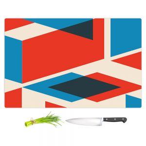 Artistic Kitchen Bar Cutting Boards | Kim Hubball - Geo Fragment