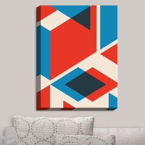 Decorative Canvas Wall Art | Kim Hubball - Geo Fragment | Pattern