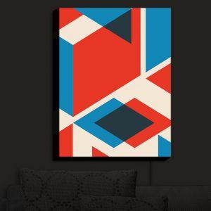Nightlight Sconce Canvas Light | Kim Hubball - Geo Fragment | Pattern