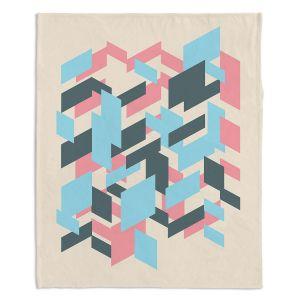 Decorative Fleece Throw Blankets | Kim Hubball - Geo Overlap