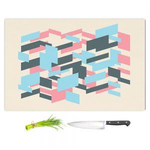 Artistic Kitchen Bar Cutting Boards | Kim Hubball - Geo Overlap