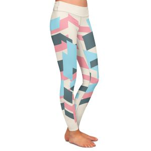 Casual Comfortable Leggings | Kim Hubball - Geo Overlap