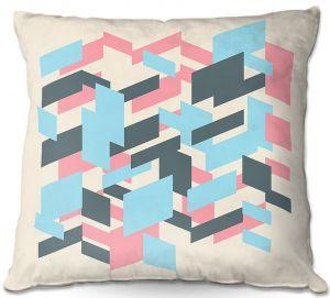 Decorative Outdoor Patio Pillow Cushion | Kim Hubball - Geo Overlap
