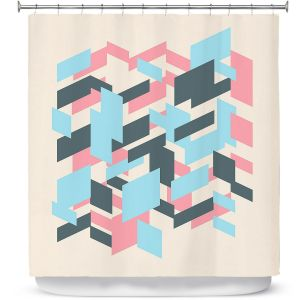 Premium Shower Curtains | Kim Hubball - Geo Overlap