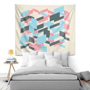Artistic Wall Tapestry | Kim Hubball - Geo Overlap