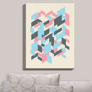Decorative Canvas Wall Art | Kim Hubball - Geo Overlap | Pattern