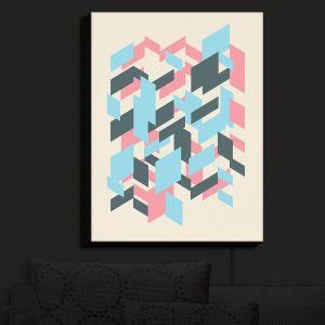 Nightlight Sconce Canvas Light | Kim Hubball - Geo Overlap | Pattern
