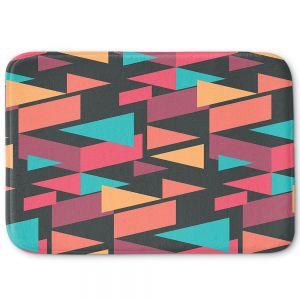 Decorative Bathroom Mats | Kim Hubball - Geotriangles 1 | Geometric Pattern Triangles