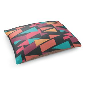 Decorative Dog Pet Beds | Kim Hubball - Geotriangles 1 | Geometric Pattern Triangles