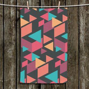 Unique Bathroom Towels | Kim Hubball - Geotriangles 1 | Geometric Pattern Triangles