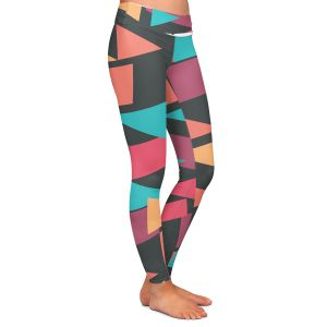 Casual Comfortable Leggings | Kim Hubball - Geotriangles 1 | Geometric Pattern Triangles