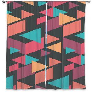 Decorative Window Treatments | Kim Hubball - Geotriangles 1 | Geometric Pattern Triangles