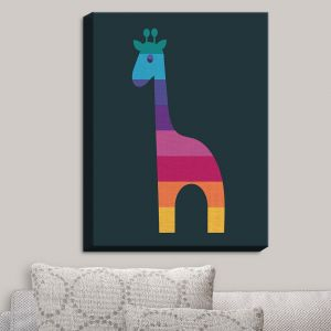 Decorative Canvas Wall Art | Kim Hubball - Giraffe Nursery | Pattern Animal Childlike