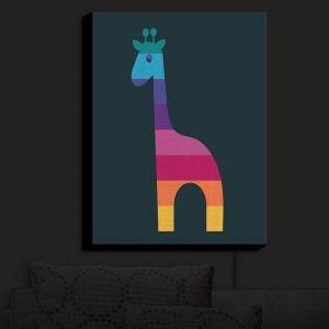 Nightlight Sconce Canvas Light | Kim Hubball - Giraffe Nursery | Pattern Animal Childlike