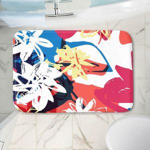 Decorative Bathroom Mats | Kim Hubball - Graffiti Flowers 1 | abstract flowers contemporary