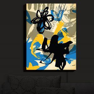 Nightlight Sconce Canvas Light | Kim Hubball - Graffiti Flowers 3 | abstract flowers contemporary
