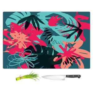 Artistic Kitchen Bar Cutting Boards | Kim Hubball - Graffiti Flowers 4 | abstract flowers contemporary