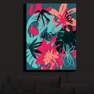 Nightlight Sconce Canvas Light | Kim Hubball - Graffiti Flowers 4 | abstract flowers contemporary