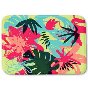 Decorative Bathroom Mats | Kim Hubball - Graffiti Flowers 5 | abstract flowers contemporary