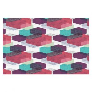 Decorative Floor Coverings | Kim Hubball - Hexgeo 1 | Geometric Pattern Hexagon