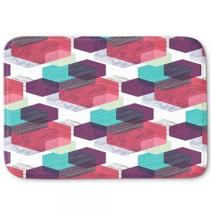 Decorative Bathroom Mats | Kim Hubball - Hexgeo 1 | Geometric Pattern Hexagon