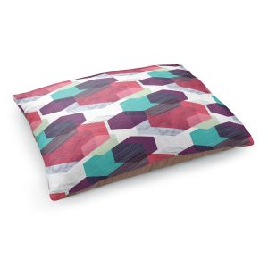 Decorative Dog Pet Beds | Kim Hubball - Hexgeo 1 | Geometric Pattern Hexagon