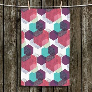 Unique Bathroom Towels   Kim Hubball - Hexgeo 1   Geometric Pattern Hexagon