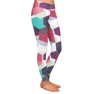 Casual Comfortable Leggings | Kim Hubball - Hexgeo 1 | Geometric Pattern Hexagon