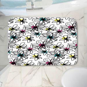 Decorative Bathroom Mats | Kim Hubball - Ink Flower Pattern 1 | Floral