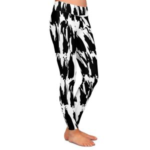 Casual Comfortable Leggings   Kim Hubball - Ink Strokes 1   Abstract Lines Brush
