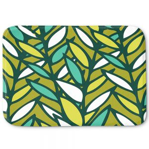 Decorative Bathroom Mats | Kim Hubball - Leaves