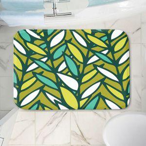 Decorative Bathroom Mats | Kim Hubball - Leaves