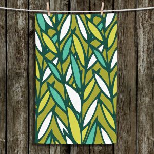 Unique Hanging Tea Towels | Kim Hubball - Leaves | Pattern Nature