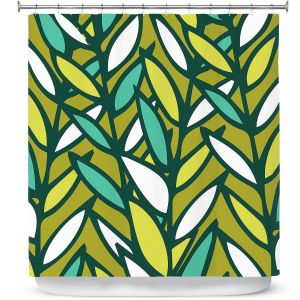 Premium Shower Curtains | Kim Hubball - Leaves