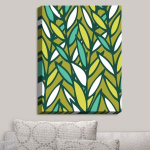 Decorative Canvas Wall Art | Kim Hubball - Leaves | Pattern Nature