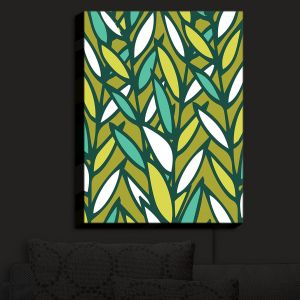 Nightlight Sconce Canvas Light | Kim Hubball - Leaves | Pattern Nature