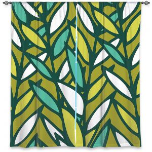 Decorative Window Treatments | Kim Hubball - Leaves
