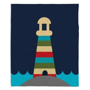 Decorative Fleece Throw Blankets | Kim Hubball - Lighthouse Nursery