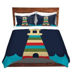 Artistic Duvet Covers and Shams Bedding | Kim Hubball - Lighthouse Nursery