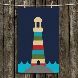 Unique Hanging Tea Towels | Kim Hubball - Lighthouse Nursery | Pattern Lighthouse Childlike