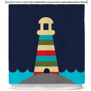 Premium Shower Curtains | Kim Hubball - Lighthouse Nursery