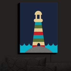 Nightlight Sconce Canvas Light | Kim Hubball - Lighthouse Nursery | Pattern Lighthouse Childlike