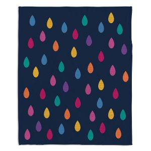 Decorative Fleece Throw Blankets | Kim Hubball - Raindrops Nursery