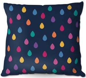 Throw Pillows Decorative Artistic | Kim Hubball - Raindrops Nursery