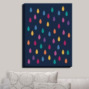 Decorative Canvas Wall Art | Kim Hubball - Raindrops Nursery | Pattern