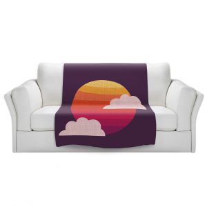 Artistic Sherpa Pile Blankets | Kim Hubball - Sunset