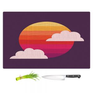 Artistic Kitchen Bar Cutting Boards | Kim Hubball - Sunset
