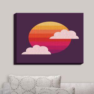 Decorative Canvas Wall Art | Kim Hubball - Sunset | Clouds Sun Pattern